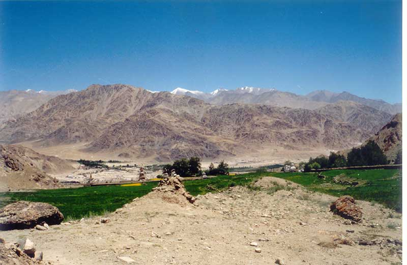 Barren Beautiful Landscape of Leh, Ladakh, India